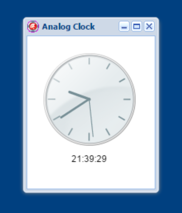 Another Javascript Analog Clock - Components and Code Samples