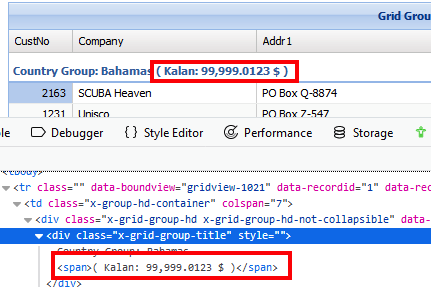 Can I add extra text in dbgrouped field row? - General - uniGUI